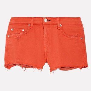RAG & BONE Mila Twill Shorts in Vermilion - NWOT